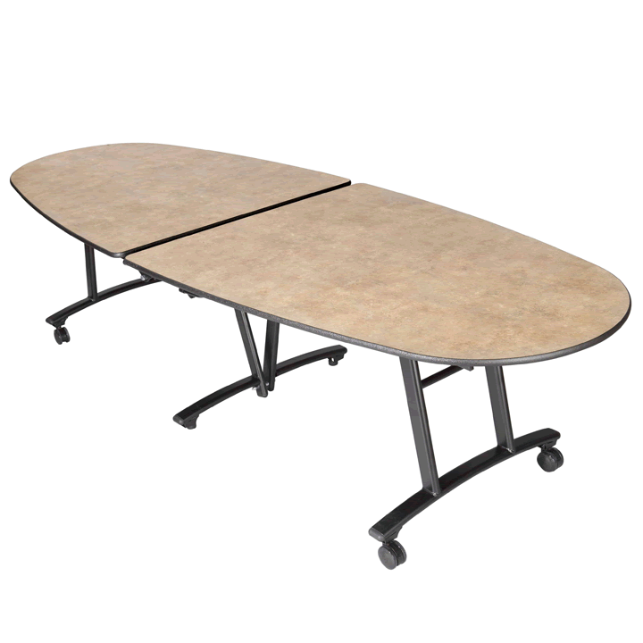 Oval Portable Folding Table