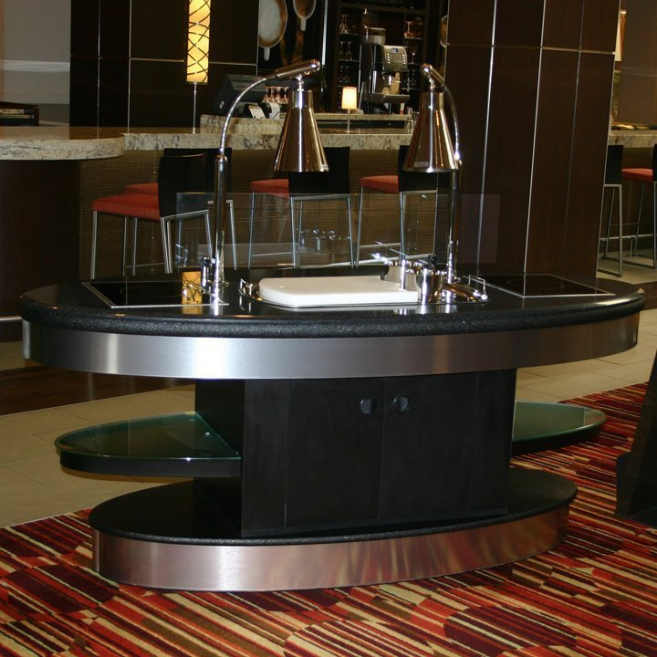 Carving station buffet ovation with