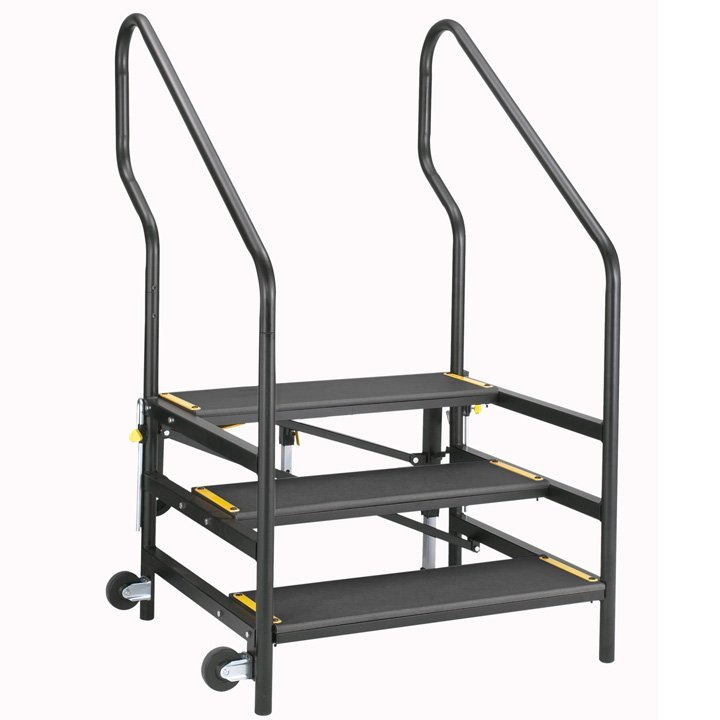 Portable Handrails For Steps Outside : Stage steps sico
