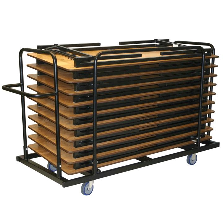 rectangle folding leg table transport caddies