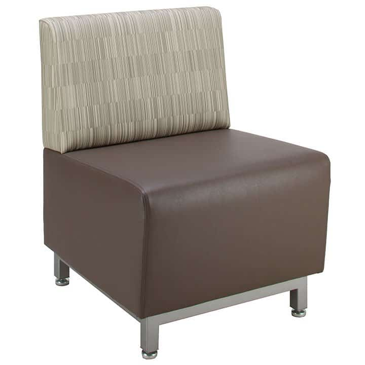 Vinyl or fabric soft seating chairs