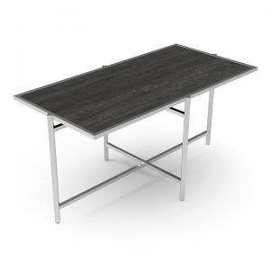 Configurable and Compact Buffet Table with Diamond Cross Frame
