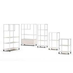 White Mobile Display Towers